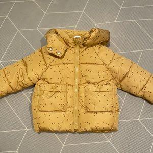 Puffer jacket with zipper